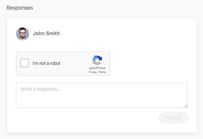 Comments form with Google Captcha (reCAPTCHA)