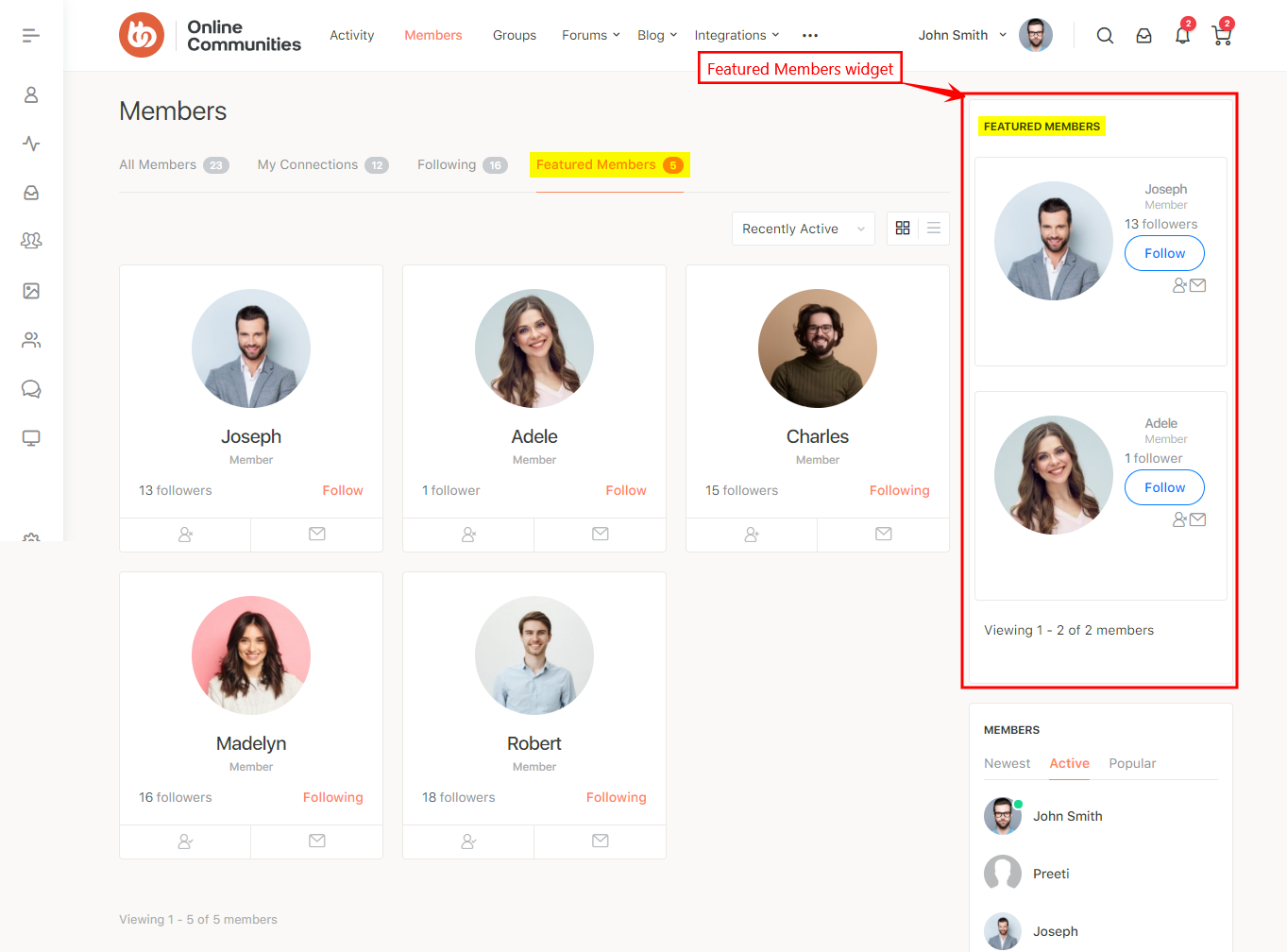 BuddyPress Featured Members - Featured members on Members page and Featured Members widget