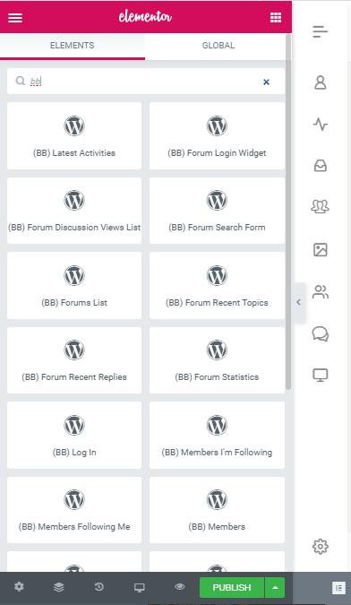 Elementor - BuddyBoss Widgets