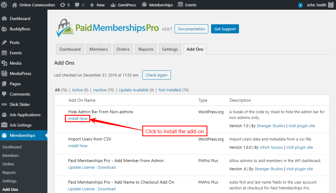 Paid Memberships Pro Add-Ons - Installing an add-on