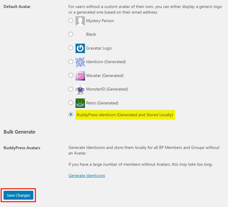 BP Local Avatars - Generating avatars for users