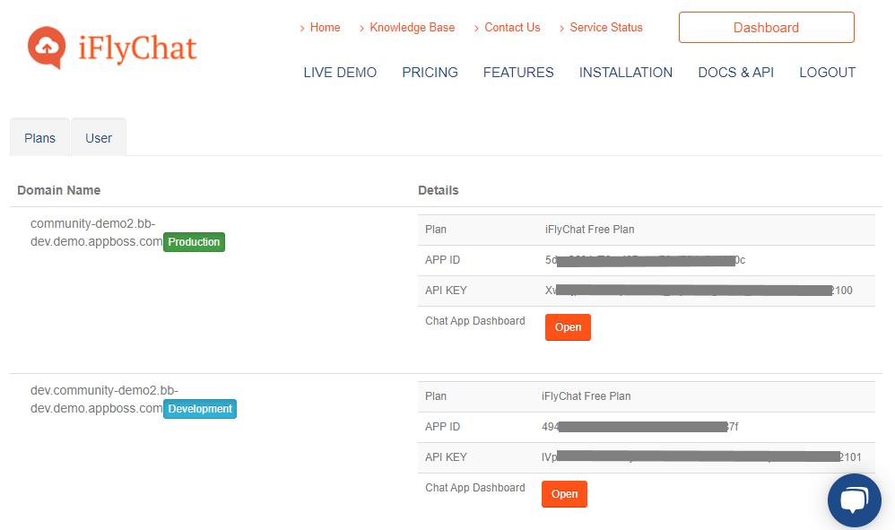 iFlyChat - APP ID and API Key