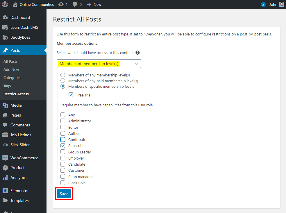 Restrict Content Pro – Restricting content based on membership levels and user roles