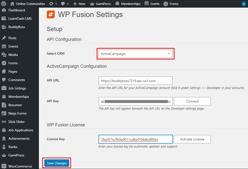 WP Fusion - Setting up the plugin