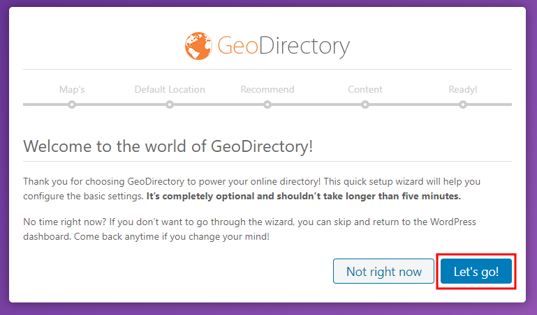 GeoDirectory - Setting up the plugin