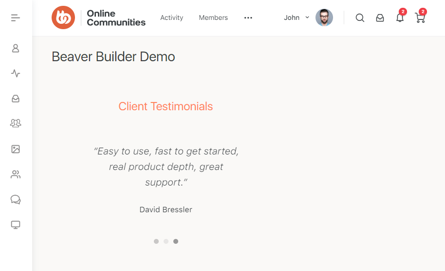 Beaver Builder - Page preview