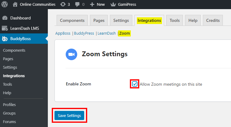 Zoom - Enabling Zoom on the website