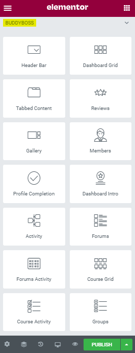 Elementor Member Dashboard - BuddyBoss widgets for Elementor and LearnDash
