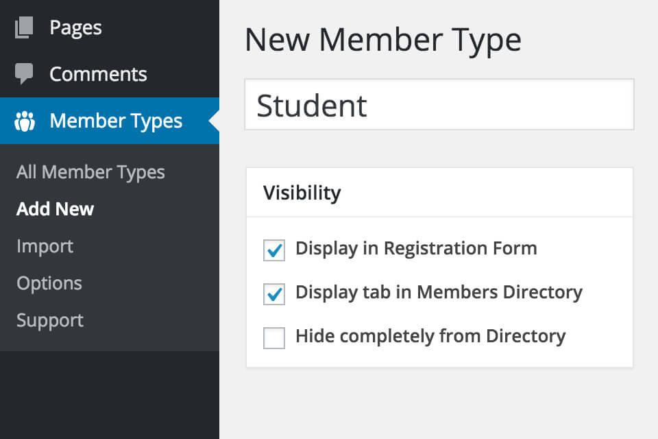 BuddyPress Member Types • BuddyBoss