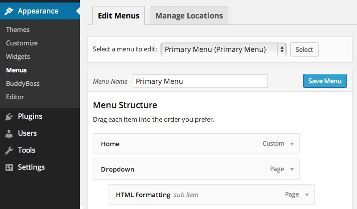 tutorials-menus