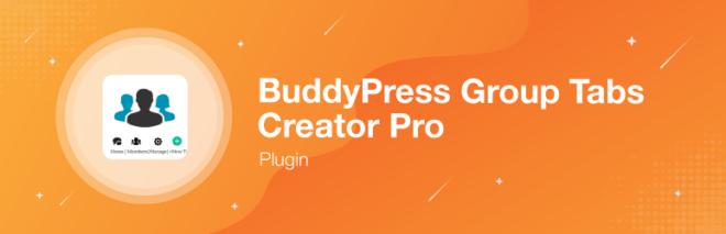 BuddyPress Group Tabs Creator Pro-