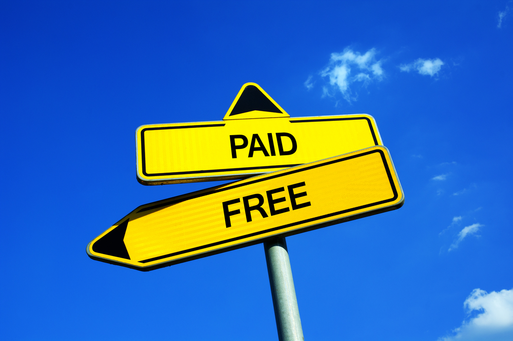 Paid vs. free content
