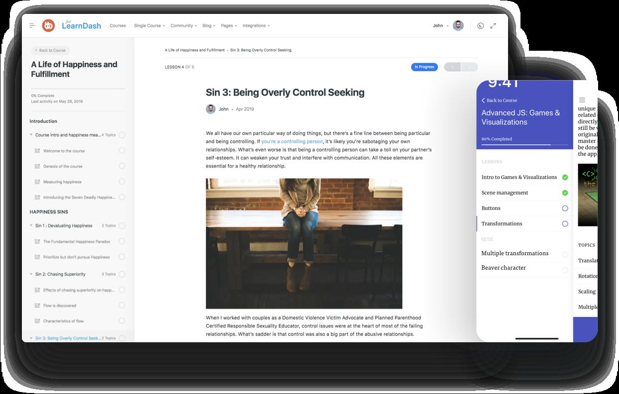 Social Learner • LearnDash on BuddyPress