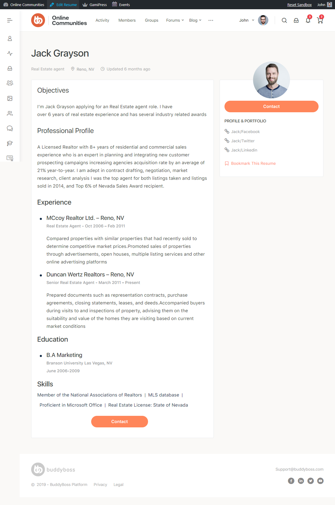 WP Job Manager Add-ons - Resume Preview