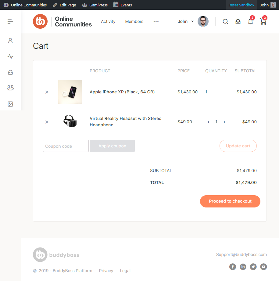WooCommerce - Cart Page Preview