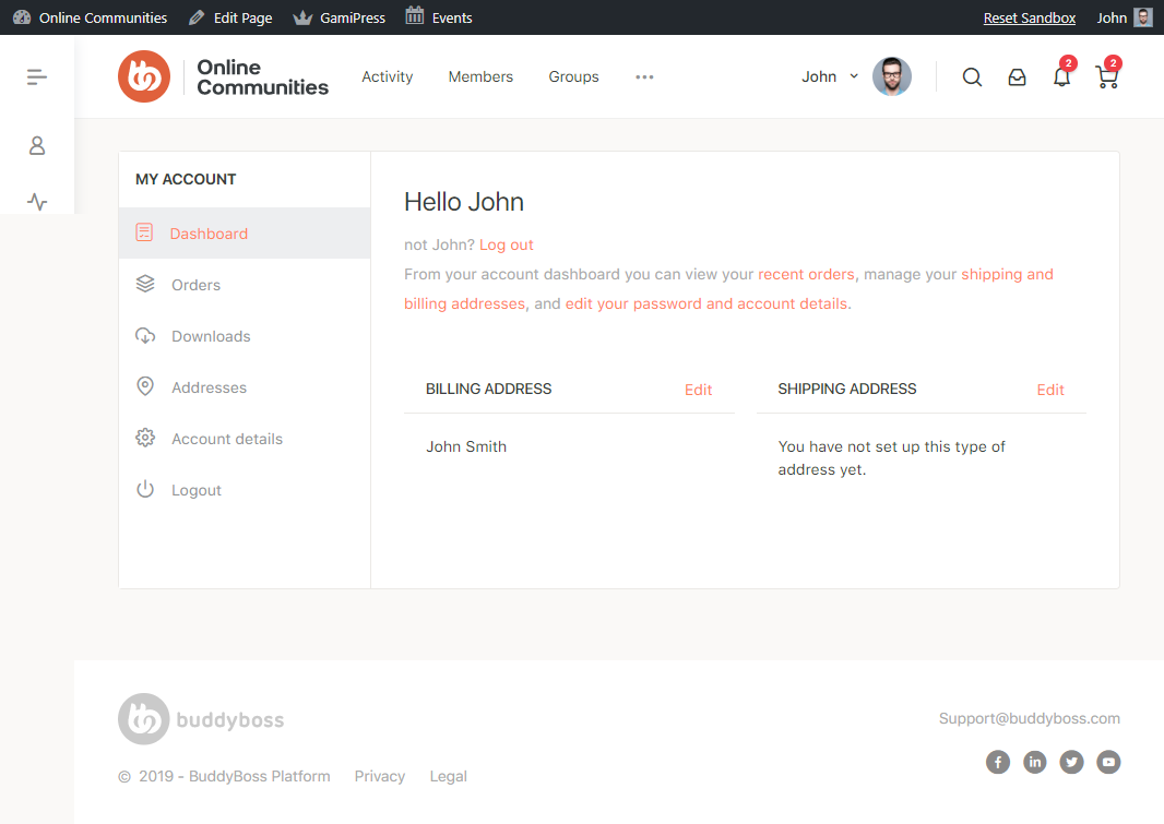 WooCommerce - My Account Page Preview