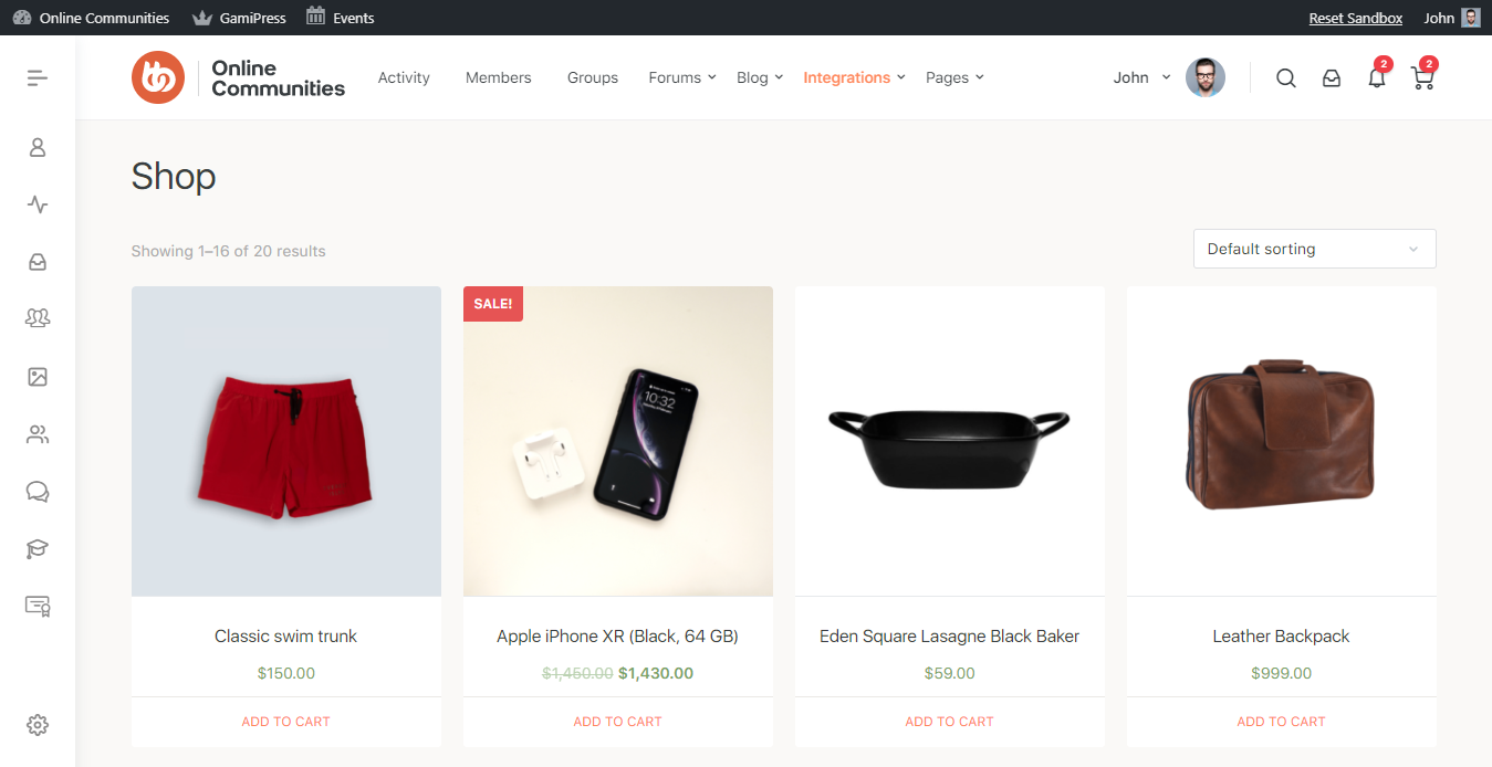 WooCommerce - Shop Page Preview