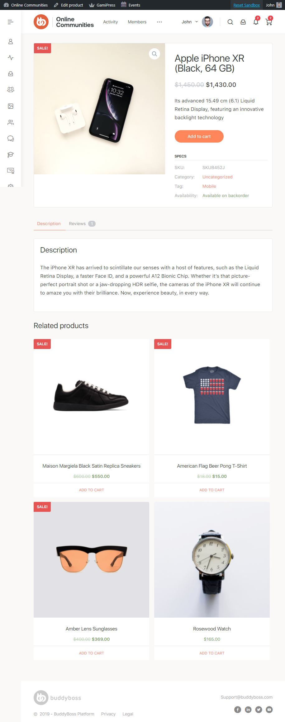 WooCommerce - Single Product Page Preview