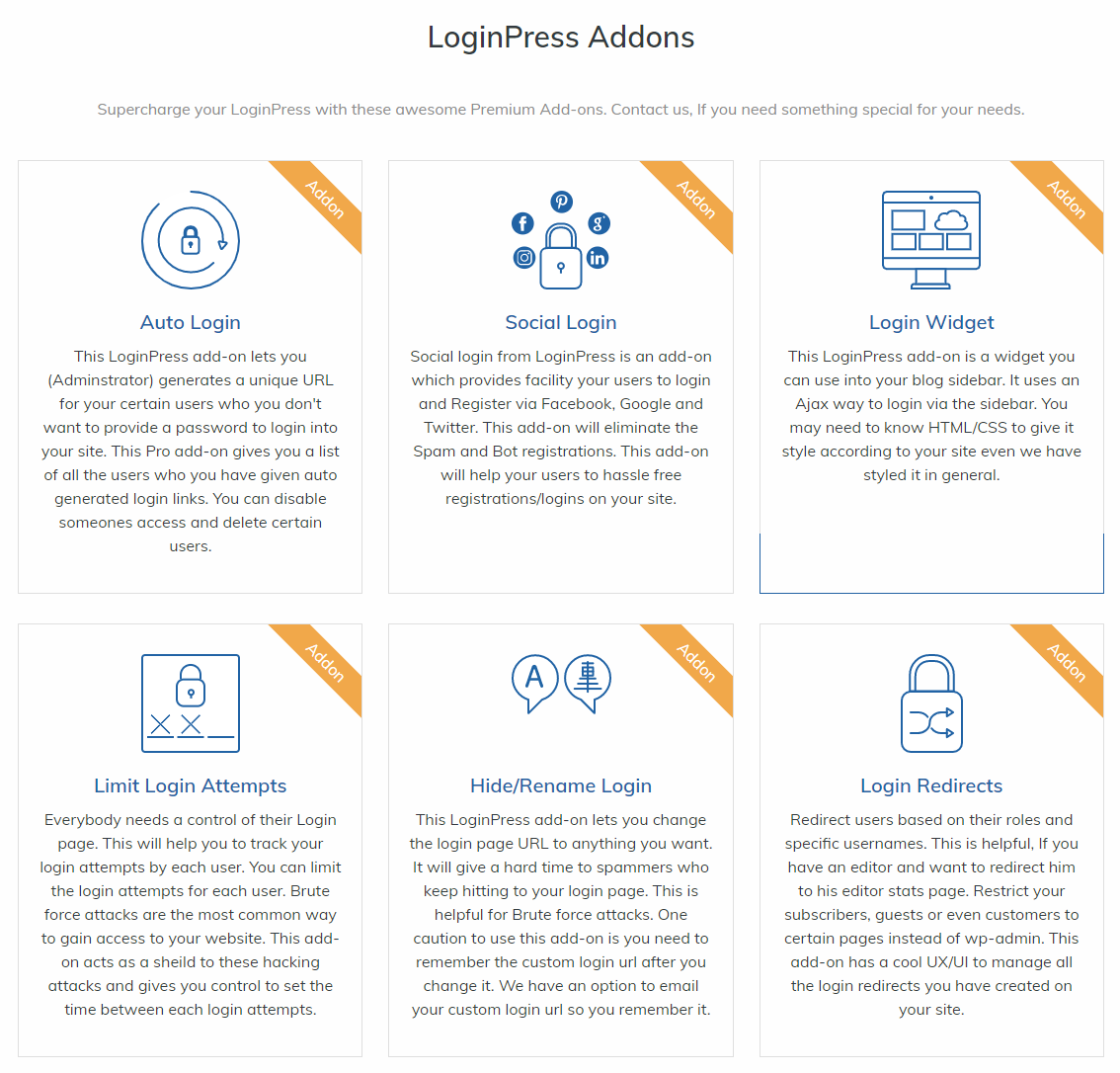 LoginPress Add-ons