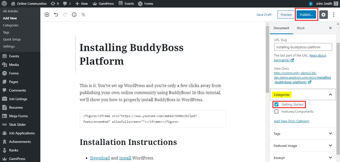 BetterDocs - Creating an article